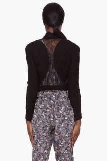Haute Hippie Black Lace Suede Jacket for women