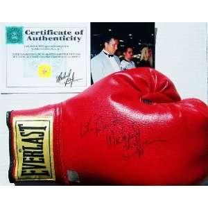 MICHAEL BUFFER Hand Signed Boxing Glove w/COA Sports