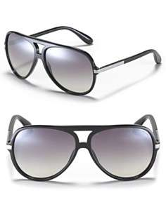 MARC BY MARC JACOBS Acetate Aviator Mirror Lens Sunglasses