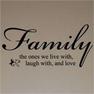 Family Love Home Wall Sayings Art Vinyl Lettering Decor