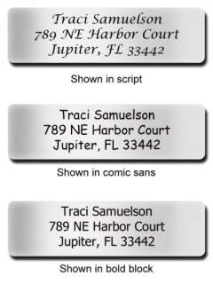 1000 Personalized Silver Foil address labels on a roll