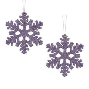 Holiday Time 2pk Lilac Snowflake Christmas Ornament Christmas Decor