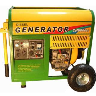 Gas Portable Generator w/ Electric Start ~ 6500 Watt Power + Wheel Kit