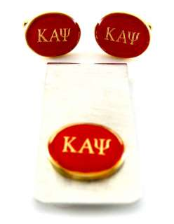 Kappa Alpha Psi Fraternity Gold Cufflinks & Money Clip