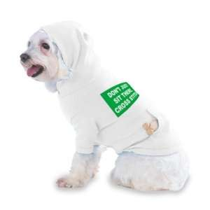 CROSS STITCH Hooded (Hoody) T Shirt with pocket for your Dog or Cat XS