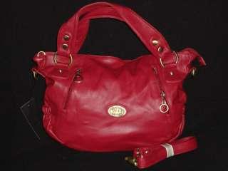 NWT Mode Becky High Quality Fashion Handbag Satchel Crossbody Red Bag