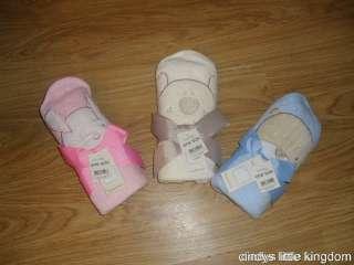 BNWT BABY HOODED BATH TOWEL PINK / BLUE / CREAM