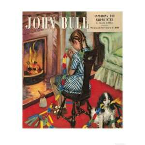 John Bull, Fireplaces Girls Decorations Magazine, UK, 1948