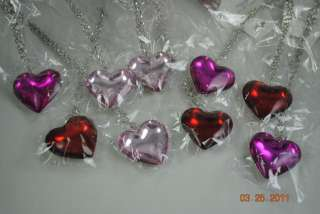lot 9 valentine puffy heart necklace earrings sets f/s