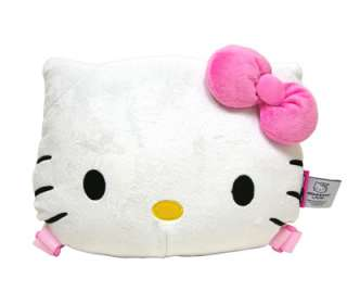 NEW Sanrio Hello Kitty Face Doll Kids Plush Travel Backpack Bag Pink
