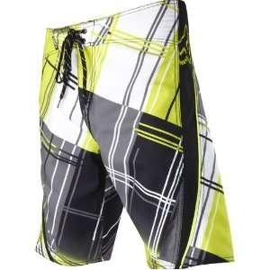 Mens Boardshort Beach Pants   Day Glo Yellow / Size 28: Automotive