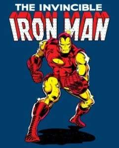MARVEL COMICS IRON MAN INVINCIBLE ADULT TEE SHIRT