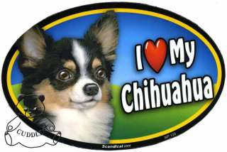 Love My Chihuahua Dog Black Car Magnet Heart Puppy Pet Lover