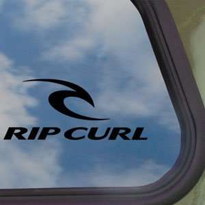Rip Curl Black Decal Surf Skate Board Truck Window Sticker