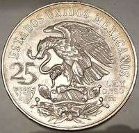XIX Mexico City 1968 SILVER Authentic Mexican Coin Mexican Coat