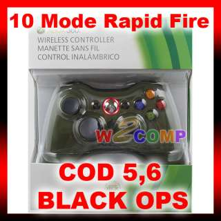 NEW 10 MODE GREEN XBOX 360 RAPID FIRE MODDED CONTROLLER for MW2 MW3