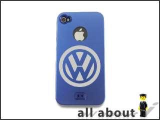 iPhone 4 4S Metal Aluminum Case with Volkswagen Car Logo / Hard Cover
