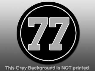 Round 77 Lyle Alzado Sticker  decal Oakland Raiders NFL