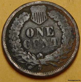 1862 INDIAN HEAD CENT PENNY A8149 RARE KEY DATE COPPER NICKEL COIN