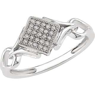 Diamond Accent Ring Fashion in 10kt White Gold Rings