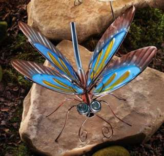 Dragonfly Art Glass Outdoor Garden Sculptures Yard Decor Art NEW I4925