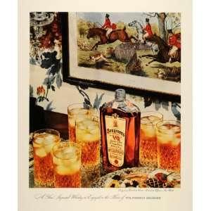 Rare Old Canadian Whisky Liquor   Original Print Ad
