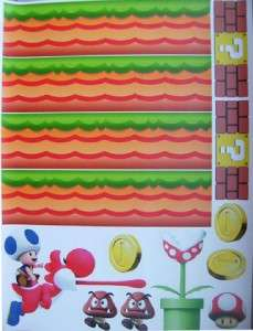 HUGE SUPER MARIO Removable Stick & Peel WALL STICKER