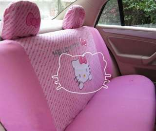 Hello kitty Auto Car Rear Seat Cover Pink Accessories Set 10pcs