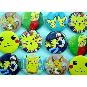 12 pcs Pokemon Assorted Badges Button Pins FREE SHIP