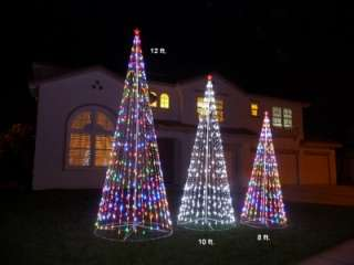 12 ft Prelit Multi Color LED Christmas Tree Outdoor NEW