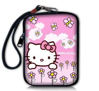 Purple Butterfly Digital Camera Case Bag Pouch + Strap