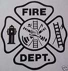 FIREFIGHTER   EMT  FIRE DEPARTMENT SHIELD VINYL GRAPHIC CAR DECAL