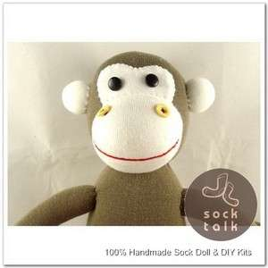 100% Handmade Sock Monkey Stuffed Animals Doll Baby Toy