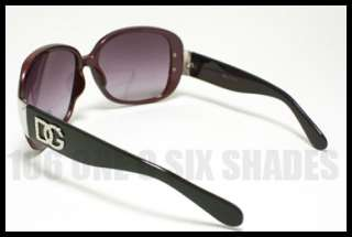OVERSIZED DG Fashion Womens Sunglasses BLACK GREEN