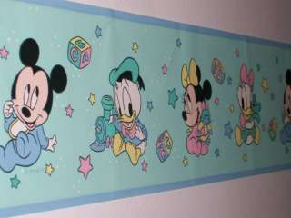 Lot Of 4 Disney Babies Wallpaper Border 60 Ft NEW