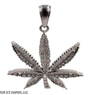BLACK GOLD ICED OUT LEAF POT WEED GANJA MARIJUANA SIMULATED DIAMOND