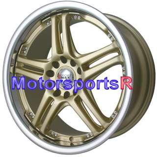 18 XXR 502 Gold Rims Wheels 06 07 08 09 10 11 Honda Civic SI Accord EX