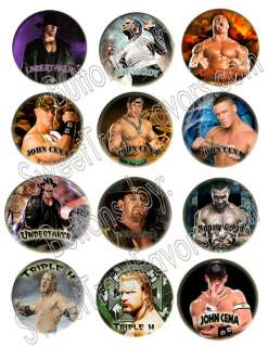 Wrestling WWF Wrestlers PINS BUTTONS Party Supplies x12