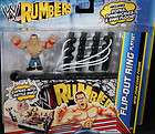 JOHN CENA W/ FLIP OUT RING PLAYSET   WWE RUMBLERS TOY W