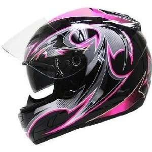 Full Face Dual Visor Ladies Motorcycle Helmet Sz S